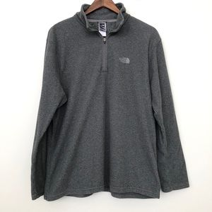 The North Face Light Gray Fleece Pullover Sweater